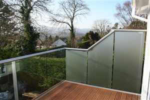 Privacy Screens on balcony with Silver handrail