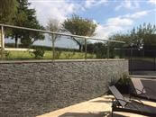 Glass Balustrade provides clear views and acts as a safety guard for children in Swindon
