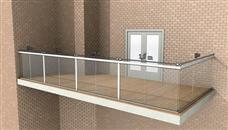 How wide can a Glass Balustrade be without posts? Find out about Balcony Systems Glass railings maximum spans and post spacing.