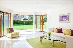 Curved Glass Sliding Doors in Sussex