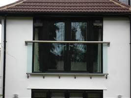 Tinted glass Royal Chrome Juliet balcony