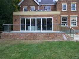 Patio with Royal Chrome balustrading