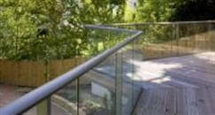 Glass Balustrades Review from Robertsbridge, East Sussex. Product: Balcony 2 system glass balustrade. Colour finish: Royal Chrome Anodized. Glass: 10mm Clear Toughened.