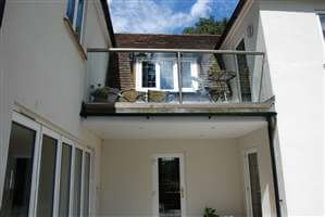 Glass Balcony Royal Chrome Surrey