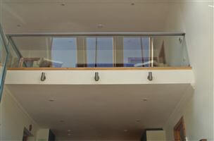 Glass Balustrade interior with Silver handrail in Isle of Lewis