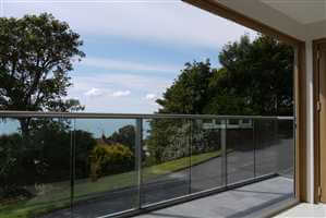 Glass Balustrade with stunning view in Kent