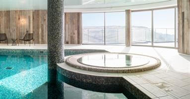 pool room curved sliding doors