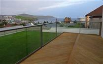 Sea view glass balustrade by Balconette gives panoramic views of the Shetland Islands