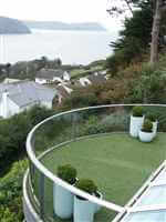 Isle of man views from curved Royal Chrome aerofoil balcony