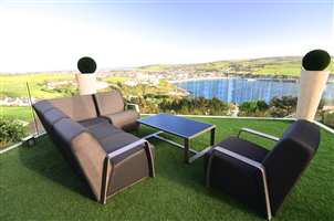Isle of man views from a clear glass Fully Frameless balcony
