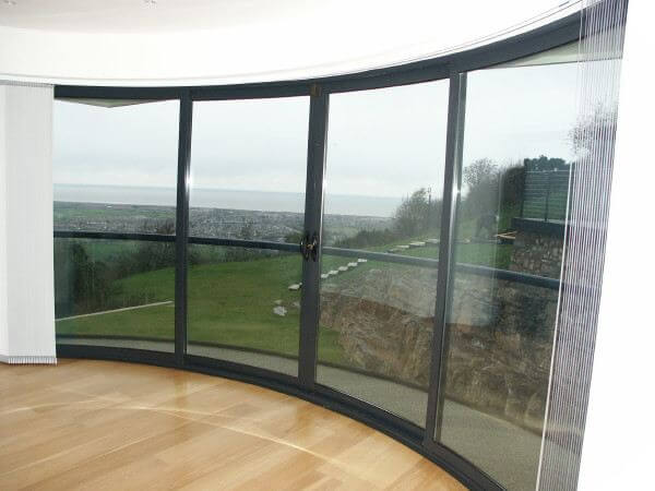 curved door Rhyl Denbighshire & Curved Sliding Glass Doors and Balustrade Wales Pezcame.Com