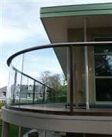 Curved Royal Chrome balustrade