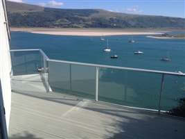 Sea View from Glass Balustrade in Snowdonia