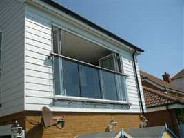 Large Glass Juliet balcony in Kent