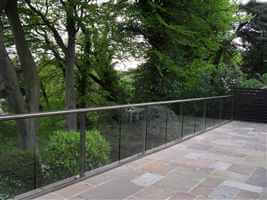 Wide Glass Balustrade with beautiful views in Northumberland