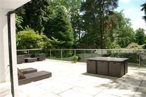 Large Glass Balustrade on stunning house in Surrey