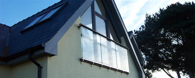 Large Juliet Glass Balcony