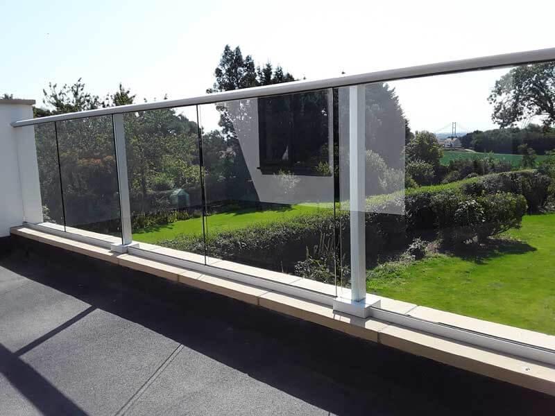 Glass Balconies in Derbyshire