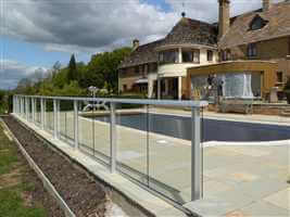 Balcony 2 system silver special pool barrier baluster