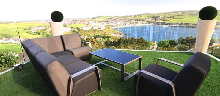 Glass Balustrade Frameless with stunning views