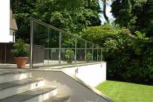 Glass Balustrade Royal Chrome Bal 1 in Surrey