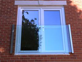 Frameless Glass Juliet Balcony in Harberton Mead, Oxford