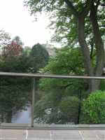 Glass Balustrade in Northumberland over looking pond