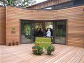 Beautiful Curved Glass Sliding Doors were supplied to the new build Hardy's Birthplace in Dorset
