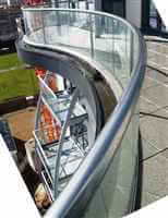 Royal Chrome curved balustrade - Balcony 1 System