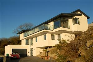 coast house with glass balustrade