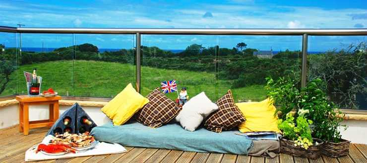Glass Balustrade with scenic views and Royal Chrome handrail
