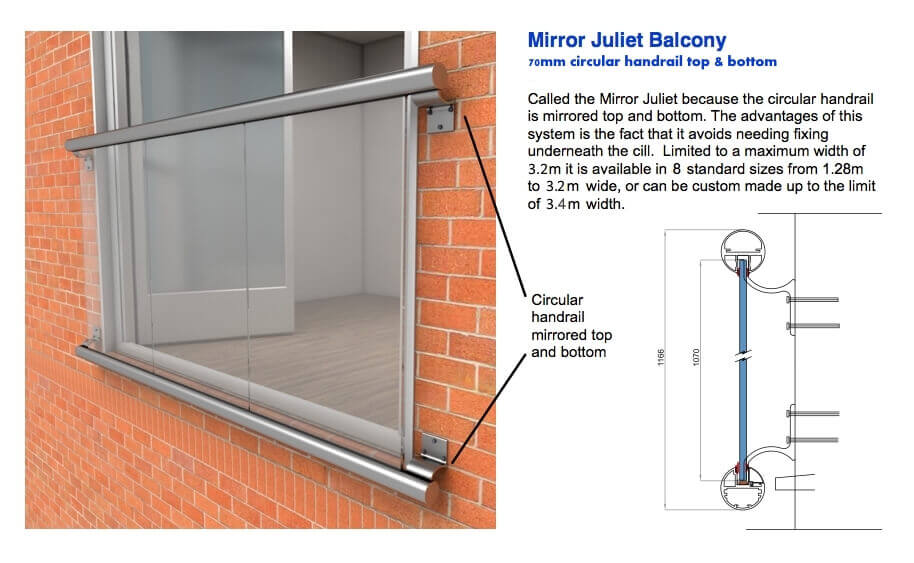Types of affordable great looking glass juliet balconies for Types of balcony