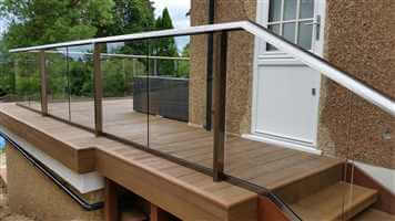Composite Decking and Bal 2 Balustrade in reigate