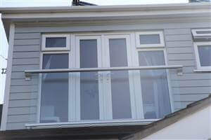 Wide glass Juliet Balcony in Surrey