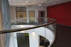 Interior curved Royal Chrome balustrade