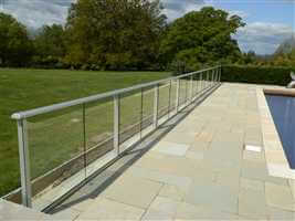 Special barrier balustrade balcony 2 system silver