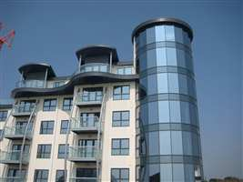 Royal Chrome balustrades curved and straight on the coast at Bognor Regis