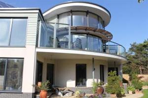 curved balustrade and curved doors