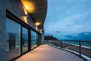 Stunning curved Orbit balustrade, with twilight colour sky