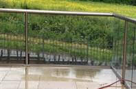 How to overcome water pooling and drainage issues on your glass balustrades. A simple and effective solution.