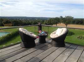 Glass Balustrade over looking countryside
