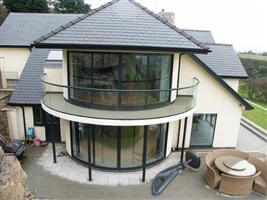 curved door and balustrades Rhyl Denbighshire