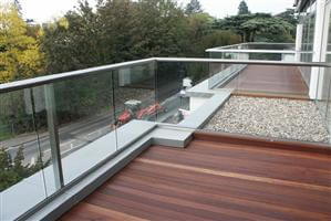 Balcony penthouse glass balcony Hereford