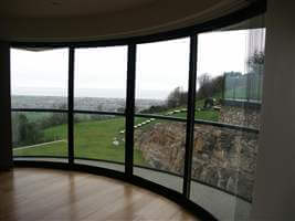 View from 4 Curved Glass Sliding Doors