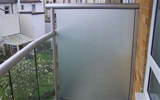 Large Privacy Screen with opaque glass