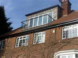 Loft conversion balcony on beautiful house with Royal Chrome handrail