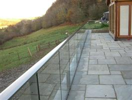 long glass balustrade