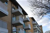 Glass and aluminium balustrading supplied by Balconette has been used extensively to create individual balconies and increase light to communal access areas at a new residential development in London.