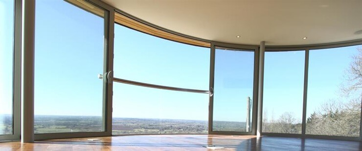 Glass Juliet Balcony with stunning view