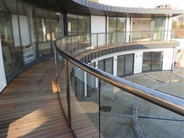 curved glass balcony curved doors eclipse house